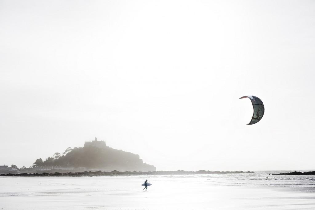 Kite surfing at Marazion beach
